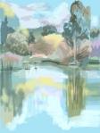 "Sally Parnis 2012, ""Summer"", digital iPad drawing"