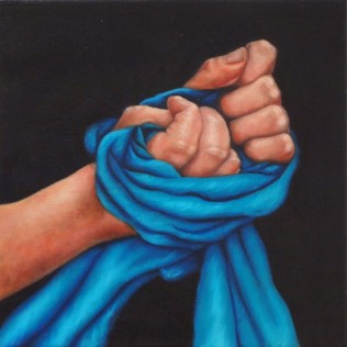 """Internal struggles #1""Oil on canvas, 30.5cm x 30.5cm"