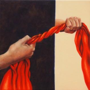 """Internal Struggles#2""Oil on canvas, 30.5cm x 30.5cm"