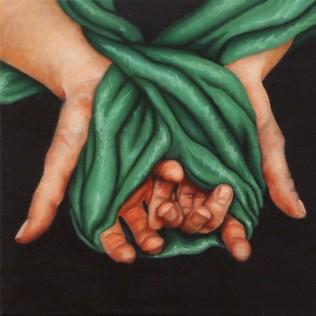 """Internal struggles #3"" Oil on canvas, 30.5cm x 30.5cm"