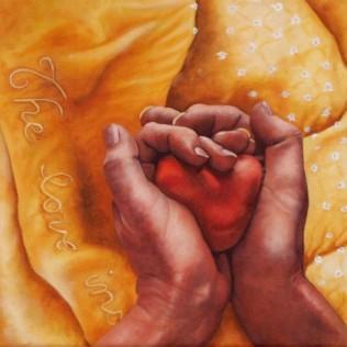 """The love inside"" Oil on canvas, 30.5cm x 30.5cm"