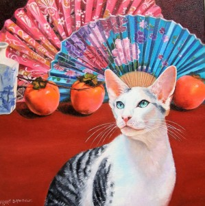 thumbnail_ORIENTAL - MR. DARCY - Margaret Slape-Phillips - Oil painting on canvas - 40cm x 40cm