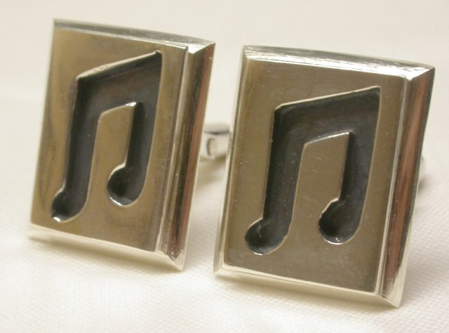 Musical Expression (cufflinks) by Cathy Button